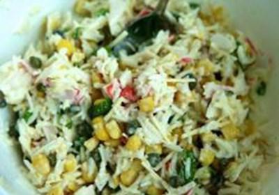 Russian Rice and Crab Salad