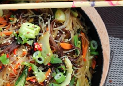 Vegan Japchae Korean Noodles
