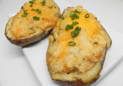 Easy Fast Vegan Twice-Baked Potato