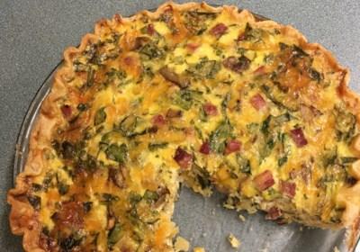 Green Eggs and Ham Quiche