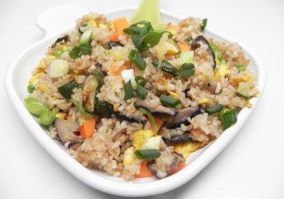 Egg Fried Rice with Cucumber