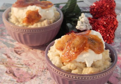 Japanese Banana Rice Pudding