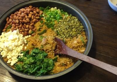 Cauliflower Rice and Beans Fajita Bowls