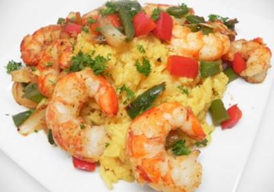 Spanish Rice and Shrimp