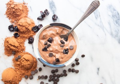 Chocolate-Cherry-Chip Vegan Nice Cream