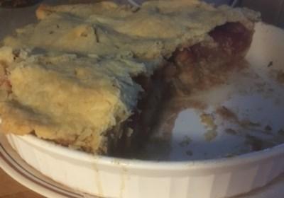 Apple and Nectarine Pie