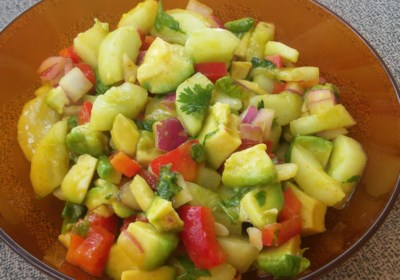 Cool Cucumber and Avocado Salad