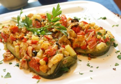 Zucchini Boats on the Grill