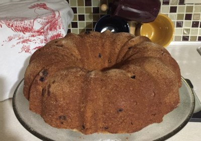 Elene's Blueberry Pound Cake
