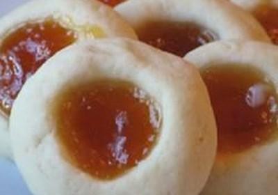Apricot Cream Cheese Thumbprints