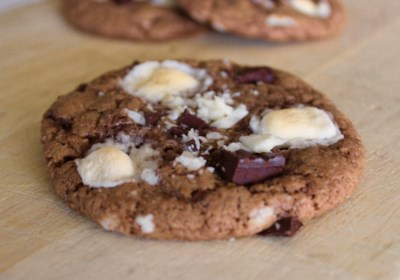 Rocky Road Cookies with Marshmallows
