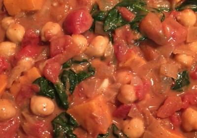 Vegan Sweet Potato Chickpea Curry