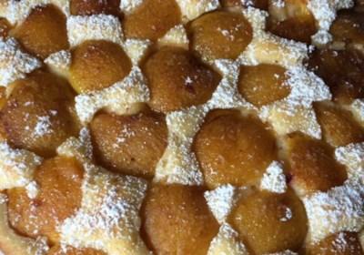 Plum Torte with Peeled Italian Plums