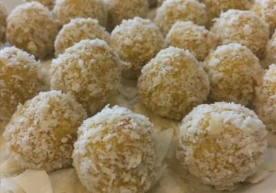 Raw-Vegan Mango Coconut Truffles