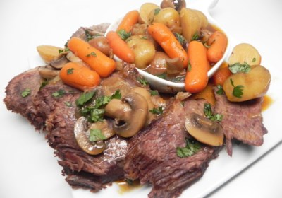 Pressure Cooker Chuck Roast with Veggies and Gravy