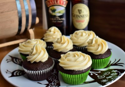 Irish Cocktail Cupcakes