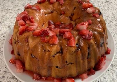 Strawberry Cream Cheese Pound Cake