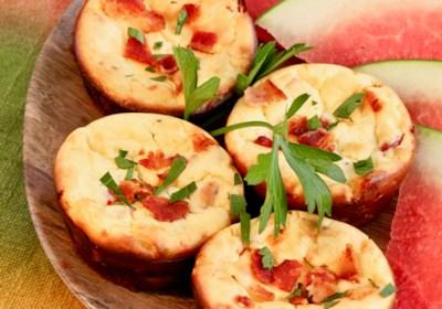 Savory Breakfast Mini Cheesecakes
