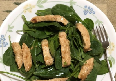 Lime-Garlic Chicken and Spinach Salad