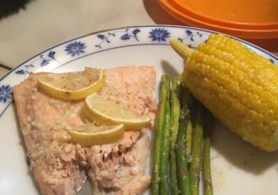 Sheet Pan Lemon Garlic Salmon with Asparagus