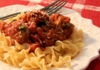 Slow Cooker Turkey Meatballs in Tomato Sauce