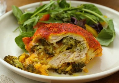 Cheesy Broccoli-Stuffed Chicken Breasts
