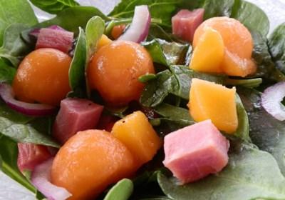 Springtime Ham and Spinach Salad
