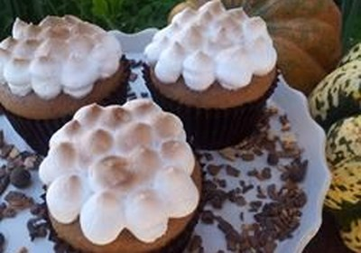 Sweet Potato Cupcakes with Toasted Marshmallow Frosting