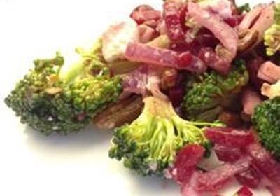 Broccoli Beet Salad with Raspberry Vinaigrette