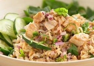 Thai Salad with Whole Grain Brown Rice and Chicken