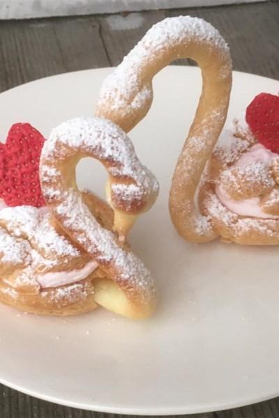 Chocolate Cream Puff Swans