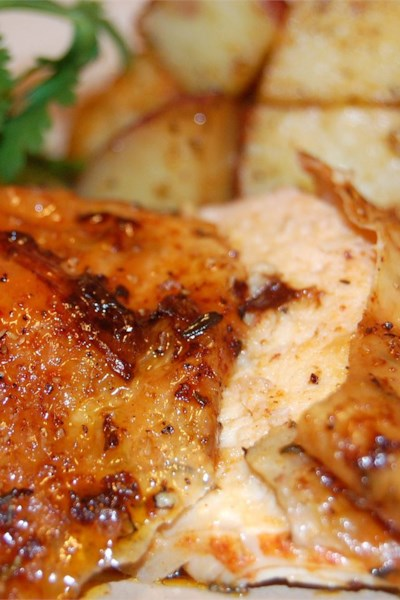 Roast Sticky Chicken-Rotisserie Style
