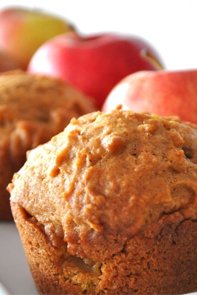 Pumpkin Apple Streusel Muffins
