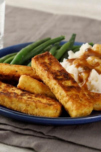Breaded, Fried, Softly Spiced Tofu