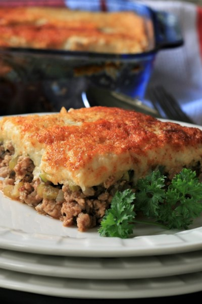 Healthy Shepherd's Pie with Cauliflower Mash