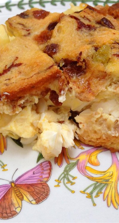 Apple Raisin French Toast Strata