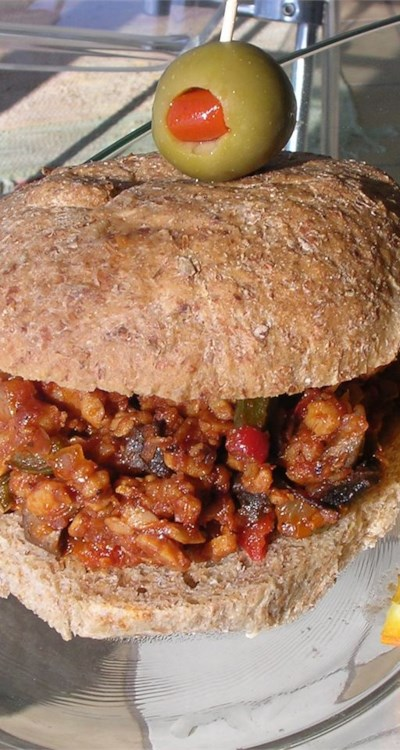 Barbeque Tempeh Sandwiches