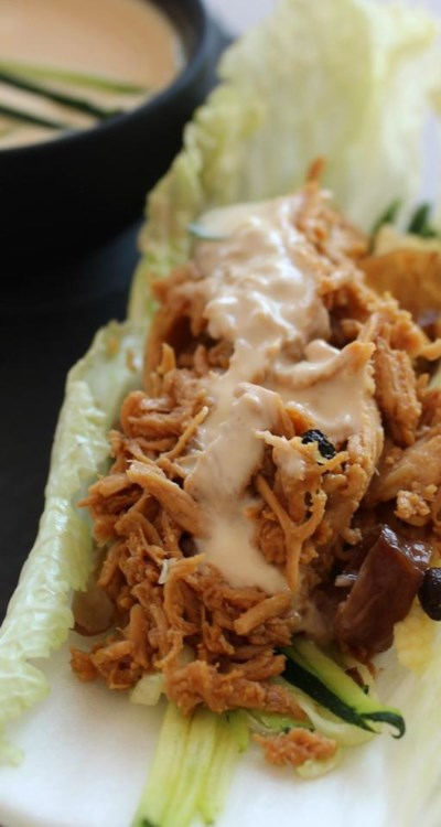No-Cook Chicken Lettuce Wraps