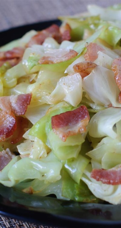 Fried Irish Cabbage with Bacon