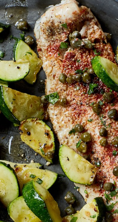 Speckled Trout in Capers and White Wine