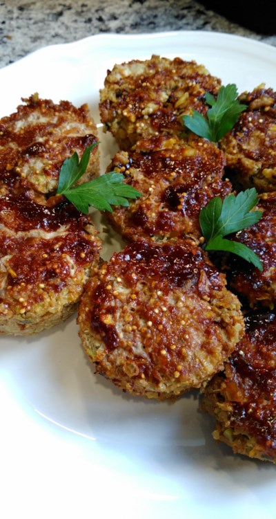 Turkey Veggie Meatloaf Cups