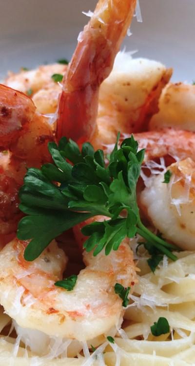 Creamy Shrimp Scampi with Half-and-Half
