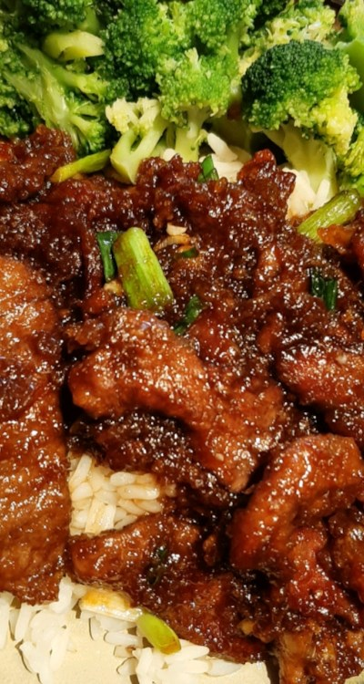 Mongolian Beef and Spring Onions