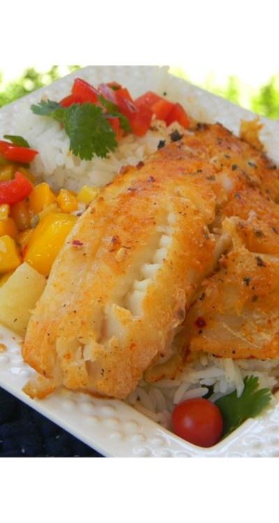 LaWanna's Mango Salsa on Tilapia Fillets