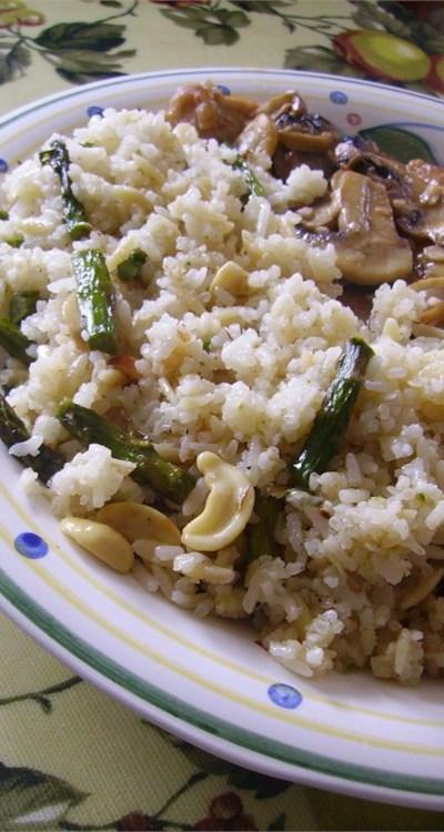 Asparagus Cashew Rice Pilaf