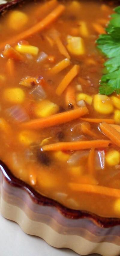 Spicy Black Bean Vegetable Soup