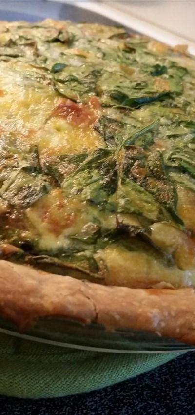 Green Chile Spinach Quiche