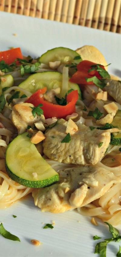 One Pot Thai-Style Rice Noodles