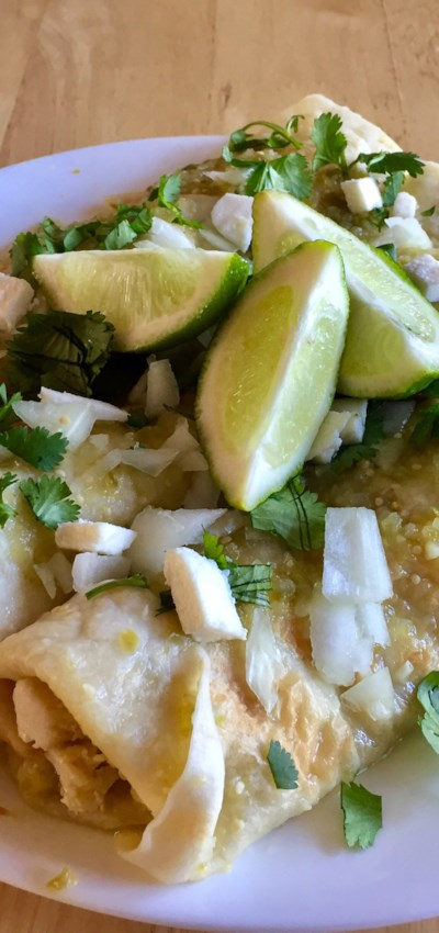 Authentic Enchiladas Verdes