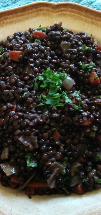 Braised Black Lentils